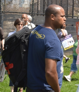 """Danny"" at the 2013 May Day march"